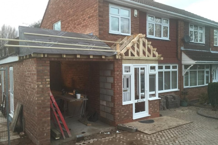 House Extension Building Specialists Walsall, Wednesbury - taking shape