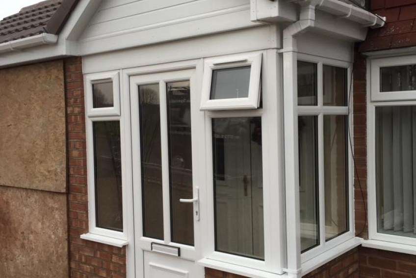 House Extension Building Specialists Walsall, Wednesbury - front porch complete