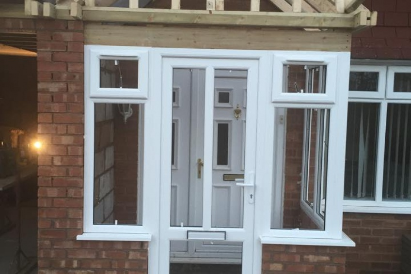 House Extension Building Specialists Walsall, Wednesbury - front porch taking shape