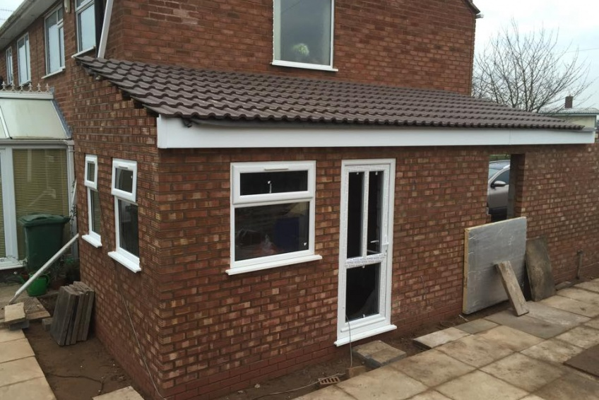 House Extension Building Specialists Walsall, Wednesbury - rear windows and doors in