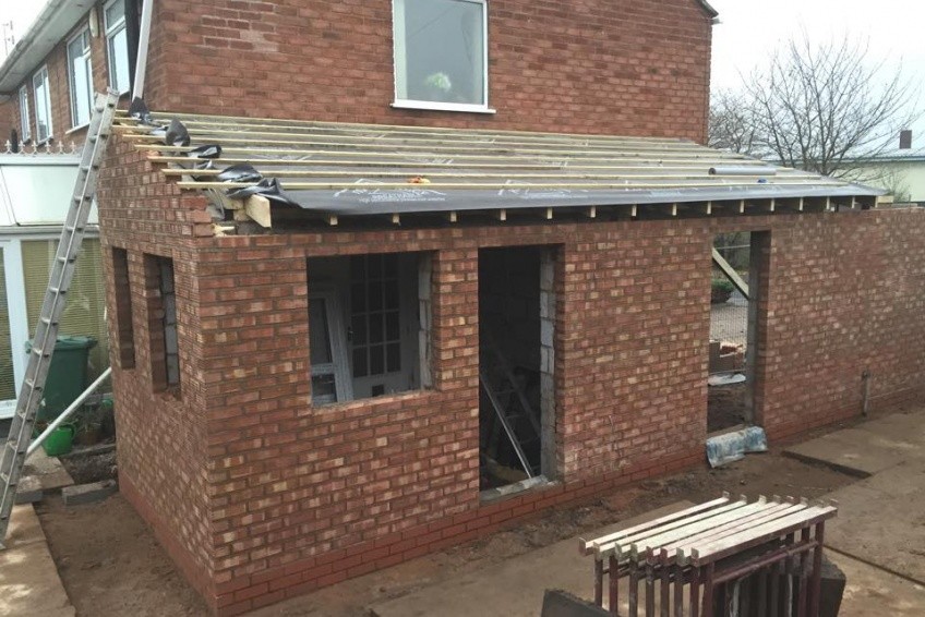 House Extension Building Specialists Walsall, Wednesbury - making good progress