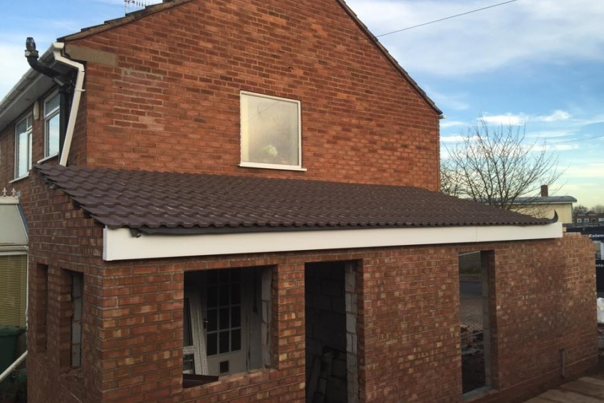 House Extension Building Specialists Walsall, Wednesbury - garage roof tiles on